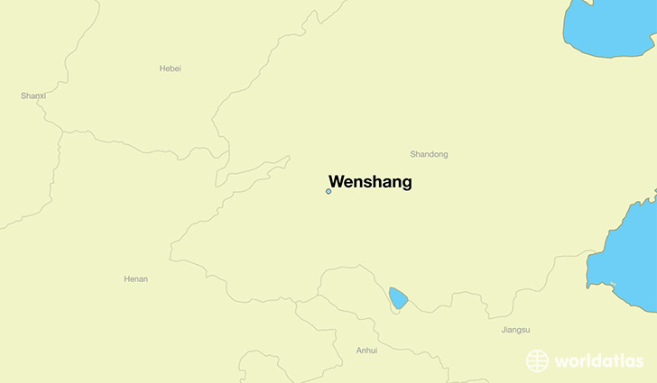 map showing the location of Wenshang