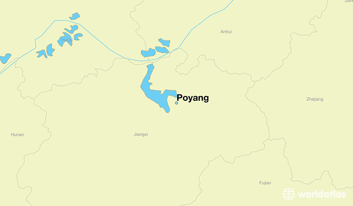 map showing the location of Poyang