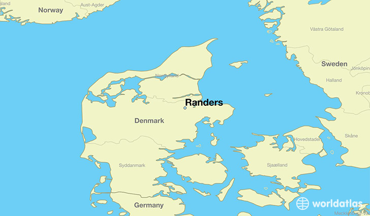 map showing the location of Randers