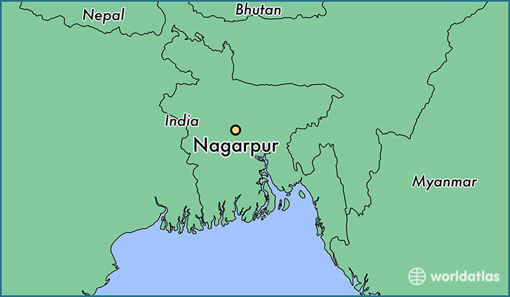 map showing the location of Nagarpur