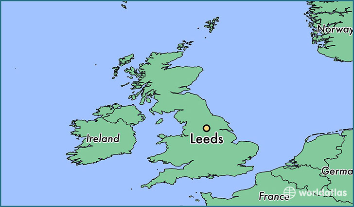 Map Of England Showing Leeds.Where Is Leeds England Leeds England Map Worldatlas Com