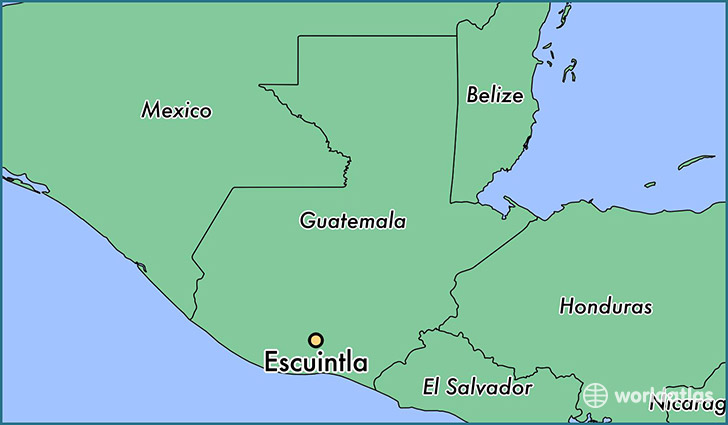 map showing the location of Escuintla