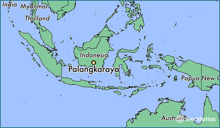 map showing the location of Palangkaraya