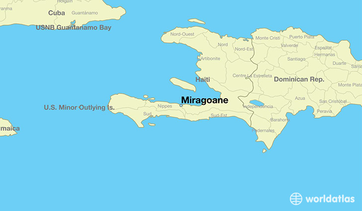 map showing the location of Miragoane