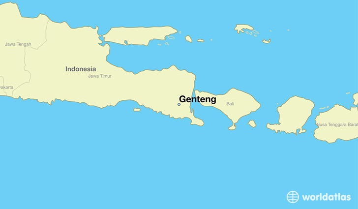 map showing the location of Genteng
