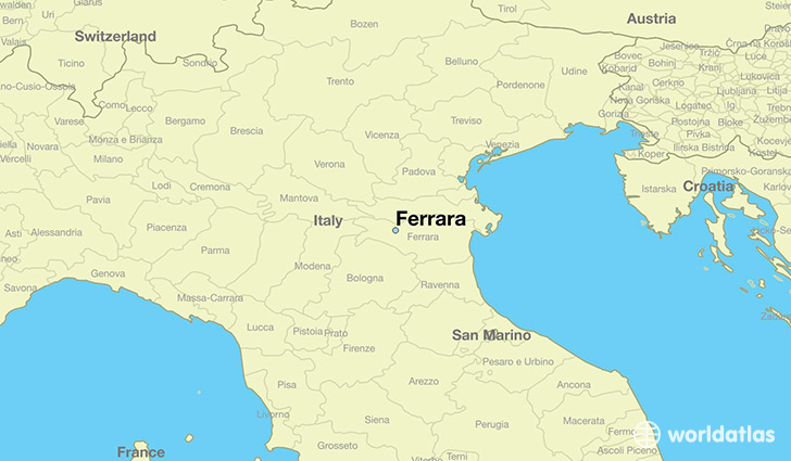Where Is Ferrara Italy Ferrara EmiliaRomagna Map - Ferrara map