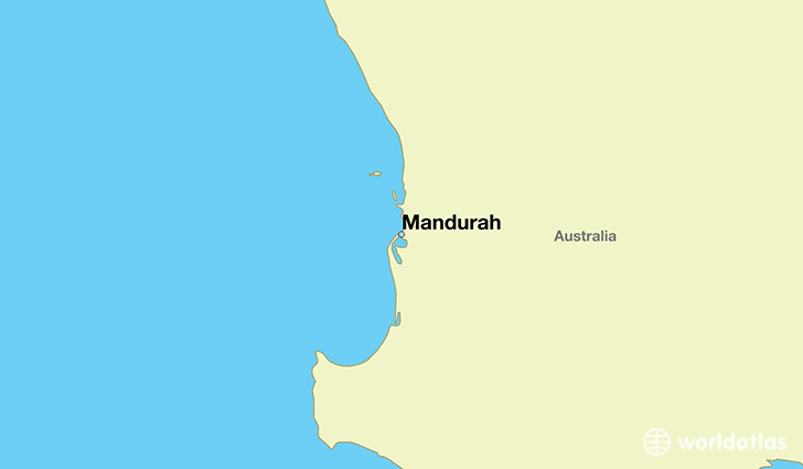 map showing the location of Mandurah