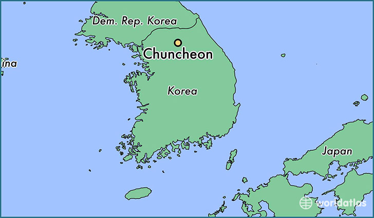 map showing the location of Chuncheon