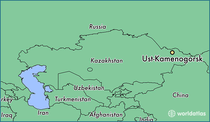map showing the location of Ust-Kamenogorsk