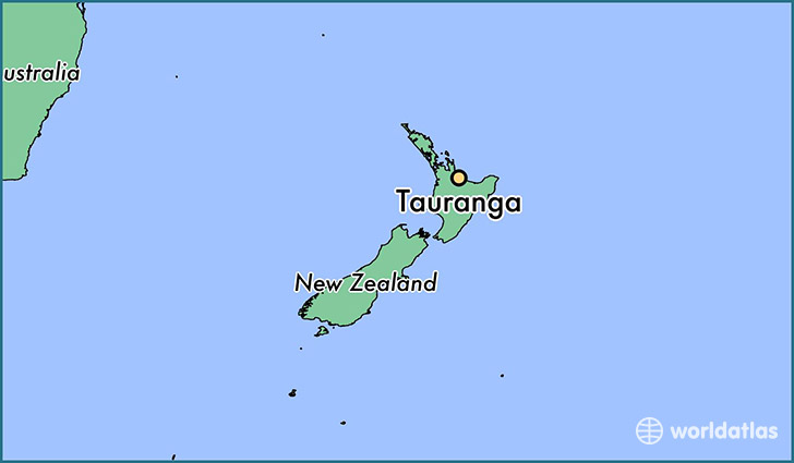 map showing the location of Tauranga