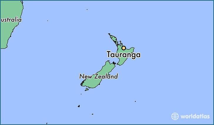 Where is Tauranga New Zealand Tauranga Bay of Plenty Map