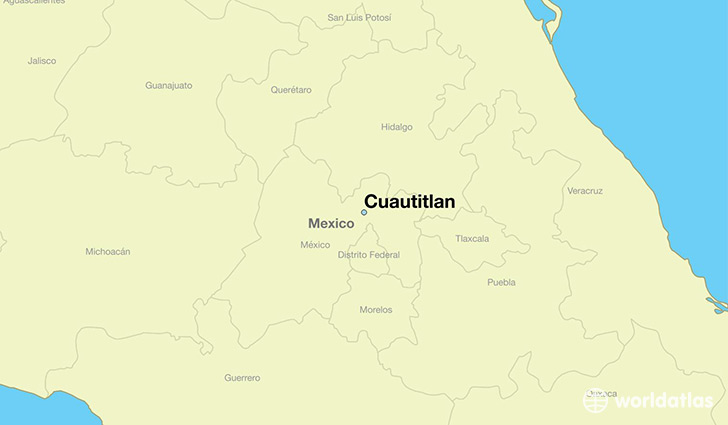 map showing the location of Cuautitlan