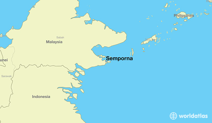 map showing the location of Semporna