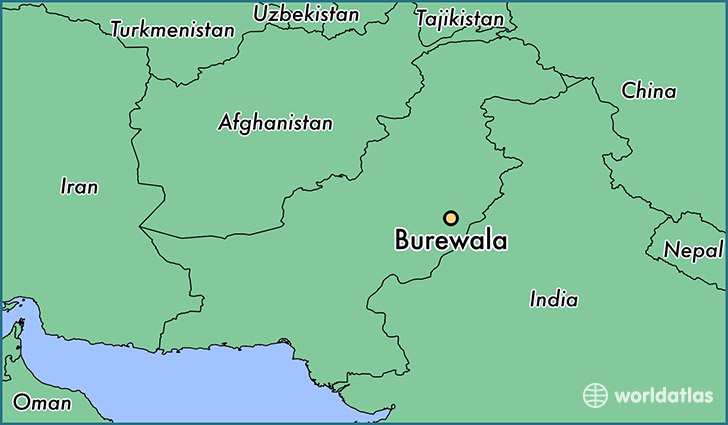map showing the location of Burewala