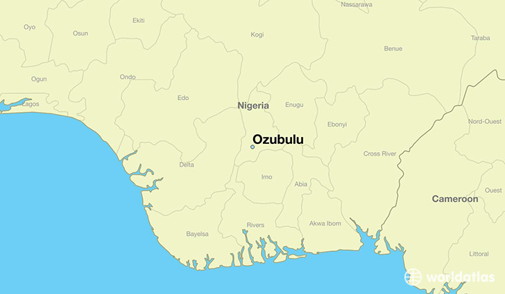 map showing the location of Ozubulu