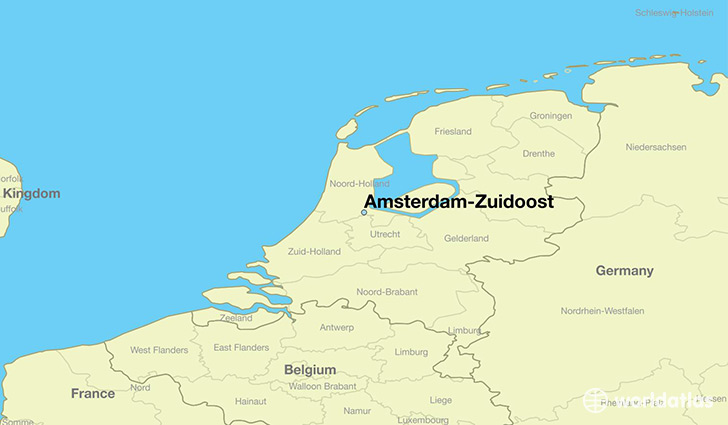 map showing the location of Amsterdam-Zuidoost
