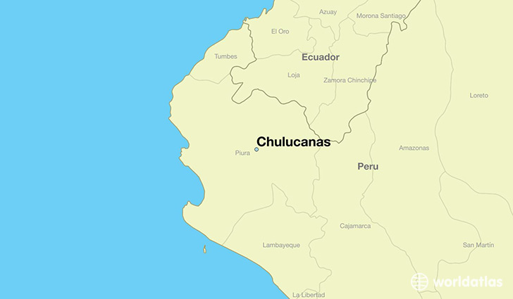 map showing the location of Chulucanas