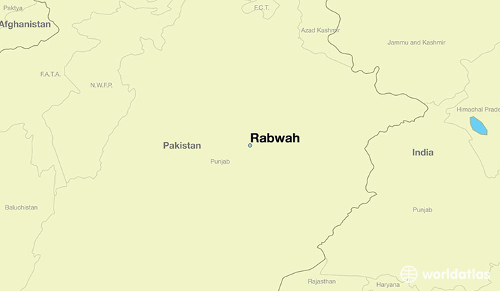map showing the location of Rabwah