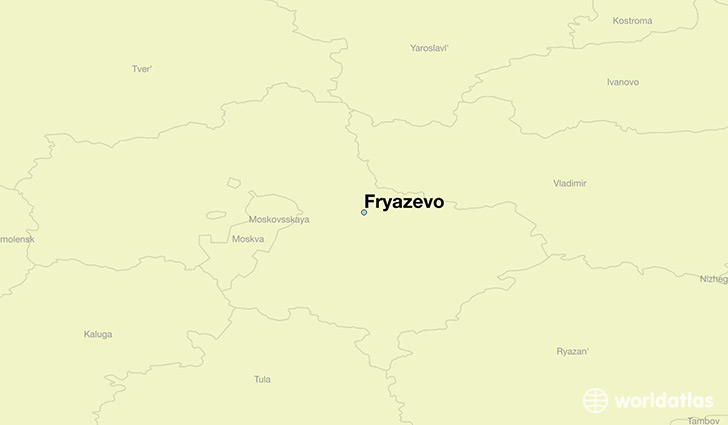 map showing the location of Fryazevo