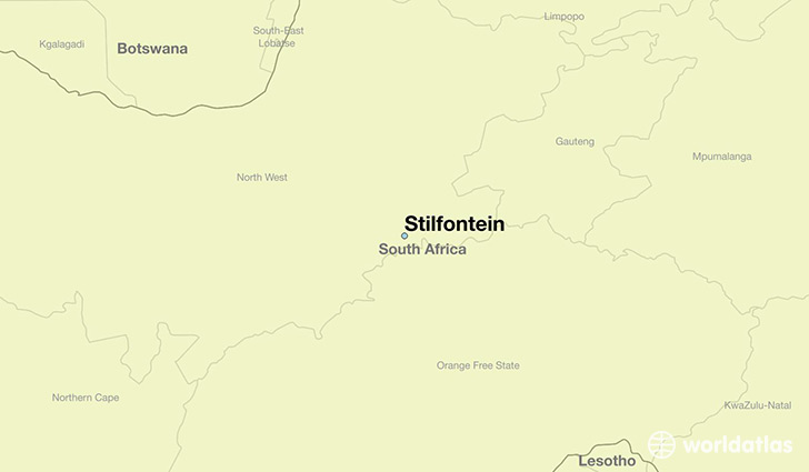map showing the location of Stilfontein