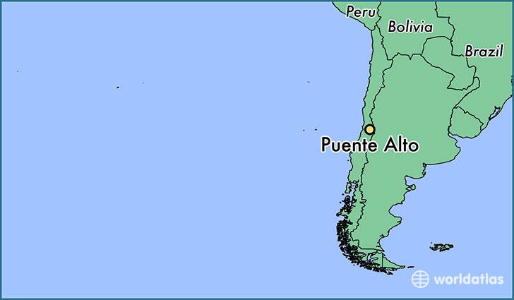 map showing the location of Puente Alto