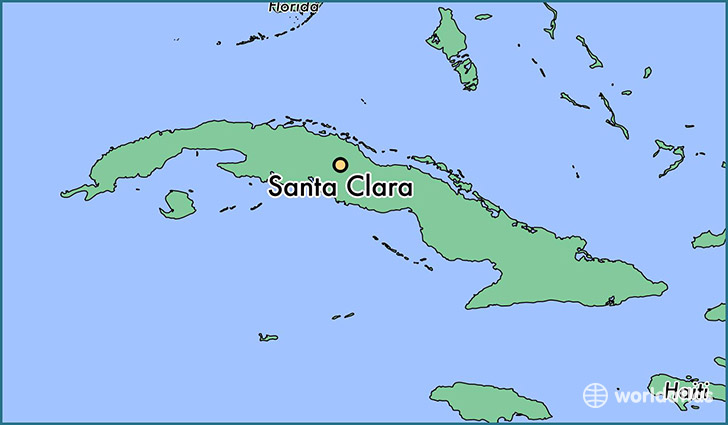 map showing the location of Santa Clara