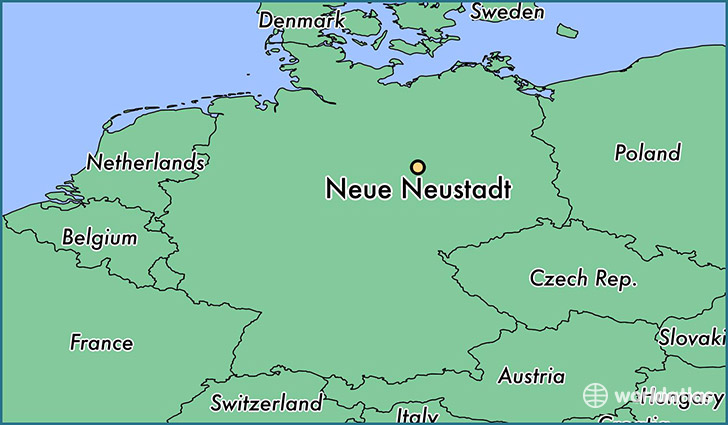 map showing the location of Neue Neustadt