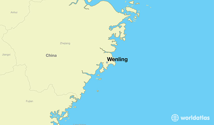 map showing the location of Wenling