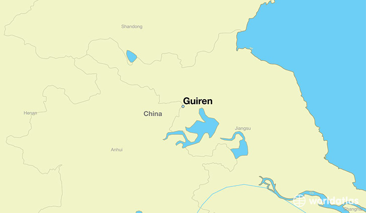 map showing the location of Guiren