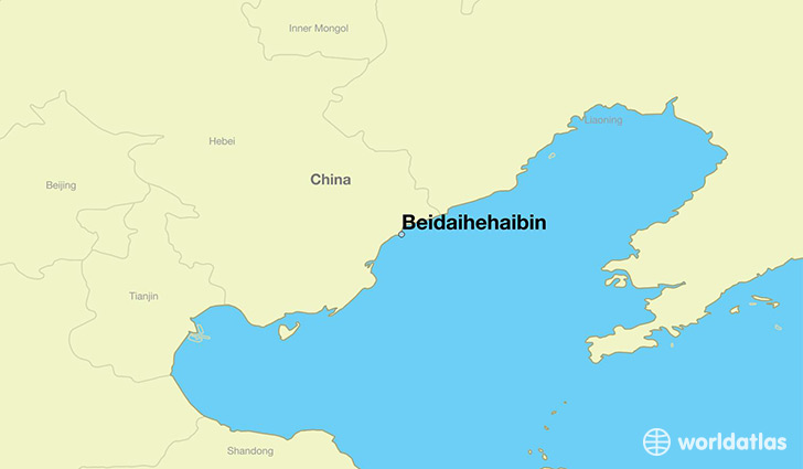 map showing the location of Beidaihehaibin
