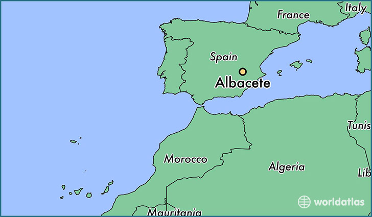 map showing the location of Albacete
