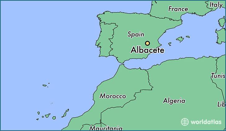 Map Of Spain La Mancha.Where Is Albacete Spain Albacete Castille La Mancha Map