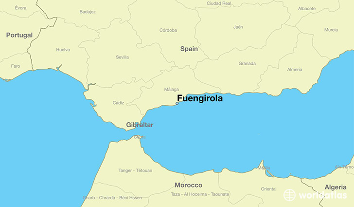 map showing the location of Fuengirola
