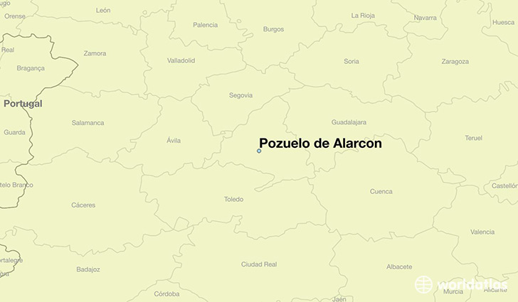 map showing the location of Pozuelo de Alarcon