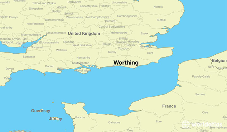 where is worthing worthing map