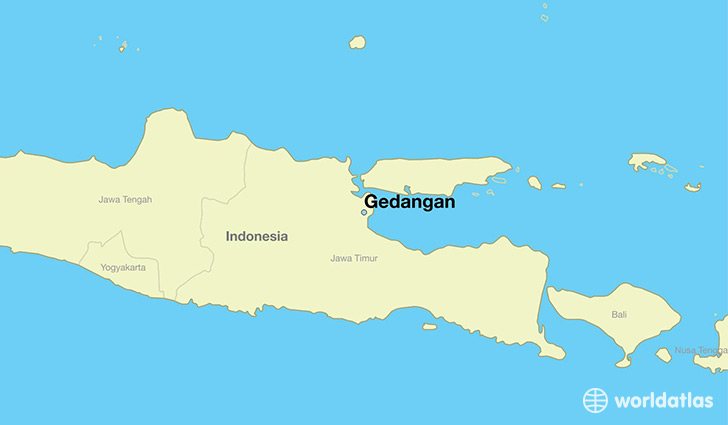 map showing the location of Gedangan