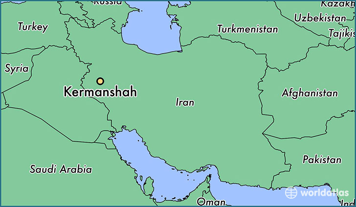 map showing the location of Kermanshah