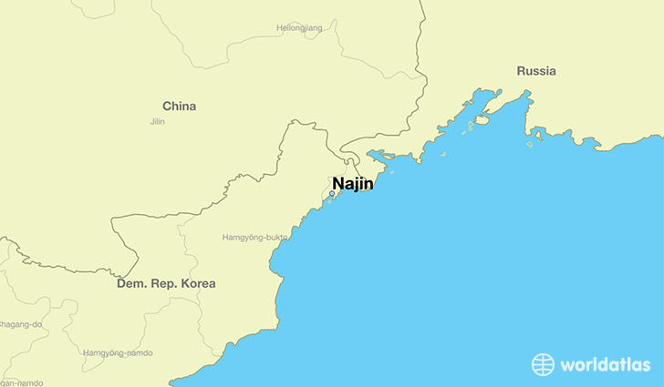 map showing the location of Najin