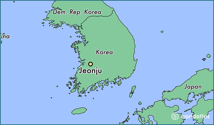 map showing the location of jeonju