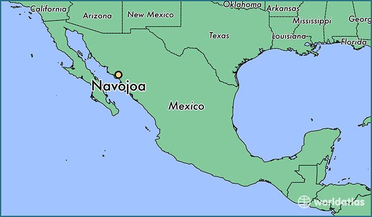 map showing the location of Navojoa