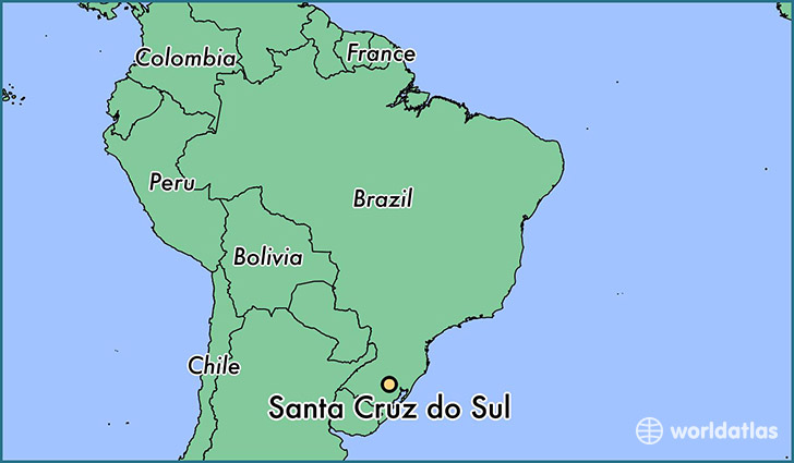 map showing the location of Santa Cruz do Sul
