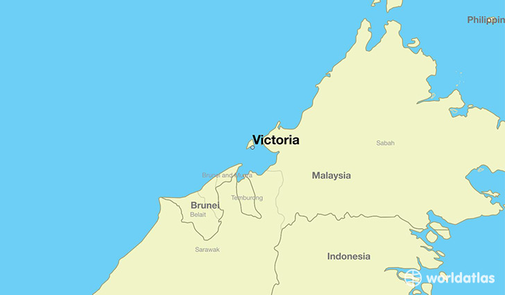map showing the location of Victoria