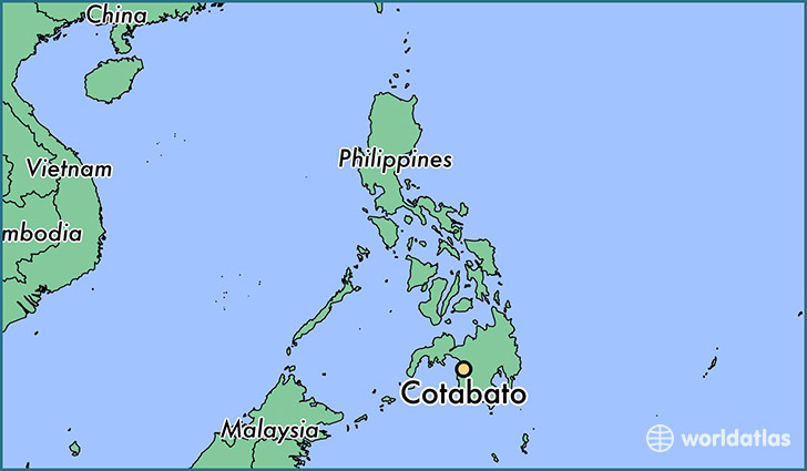 map showing the location of Cotabato