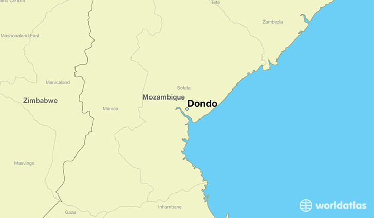 map showing the location of Dondo