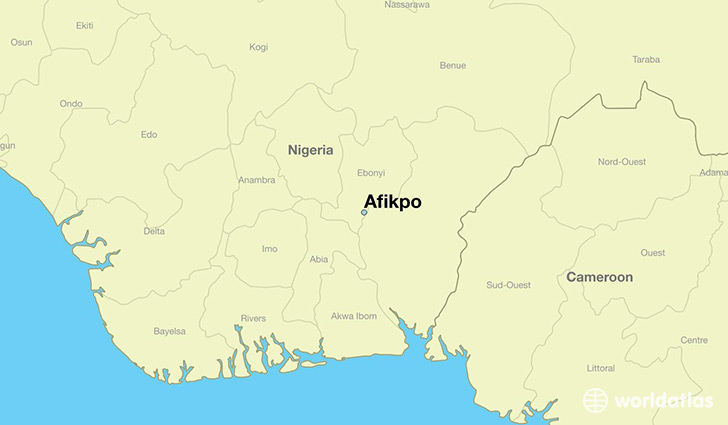 map showing the location of Afikpo