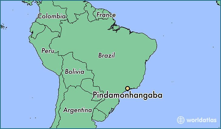 map showing the location of Pindamonhangaba