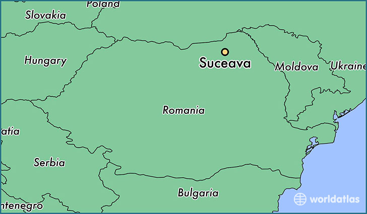 map showing the location of Suceava