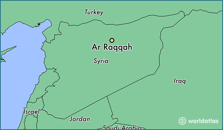 map showing the location of Ar Raqqah