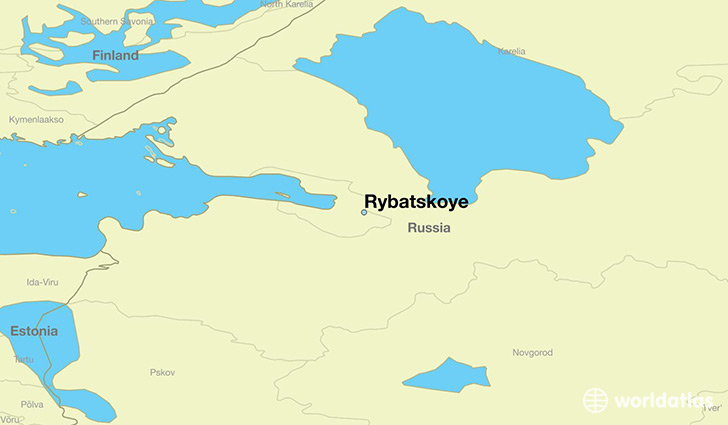 map showing the location of Rybatskoye
