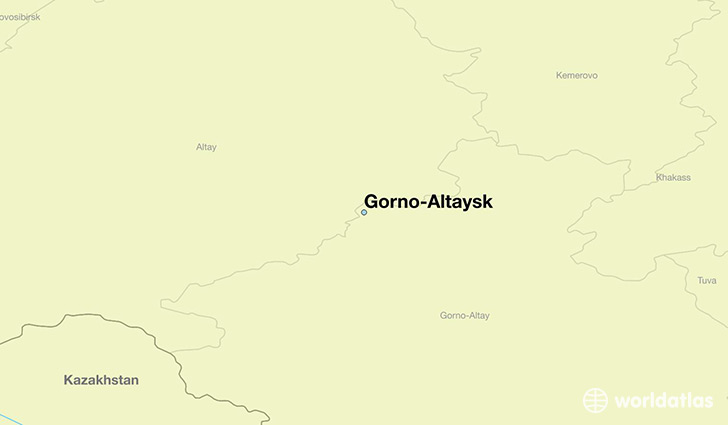 map showing the location of Gorno-Altaysk